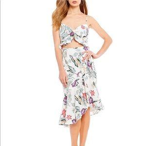 WAYF tropical print dress